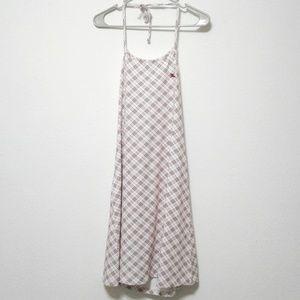 Burberry London Blue Label Plaid Halter Mini Dress